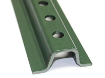 1.12 lb/ft baked enamel green light-duty U-channel sign post.